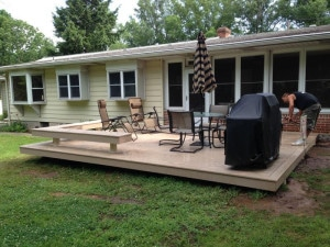 Warrington deck installation
